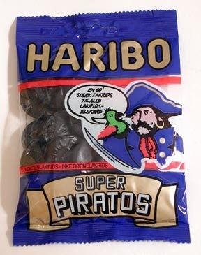 AHOY MATEY! I HAVE COME TO TAKE YOUR BOOTY! ARGH ARGH ARGH!  Haribo - Super Piratos - Danish licorice