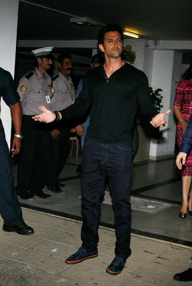 Hrithik Roshan at Karan Johar's birthday bash. #Style #Bollywood #Fashion #Handsome