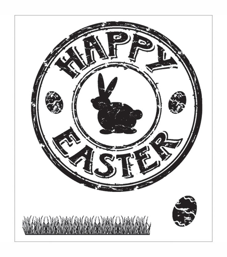 "Technique Tuesday Clear Stamps 2""X2.5"" - Easter Seal"
