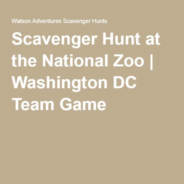 Scavenger Hunt at the National Zoo | Washington DC Team Game