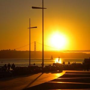 Sunset Lissabon january 2012
