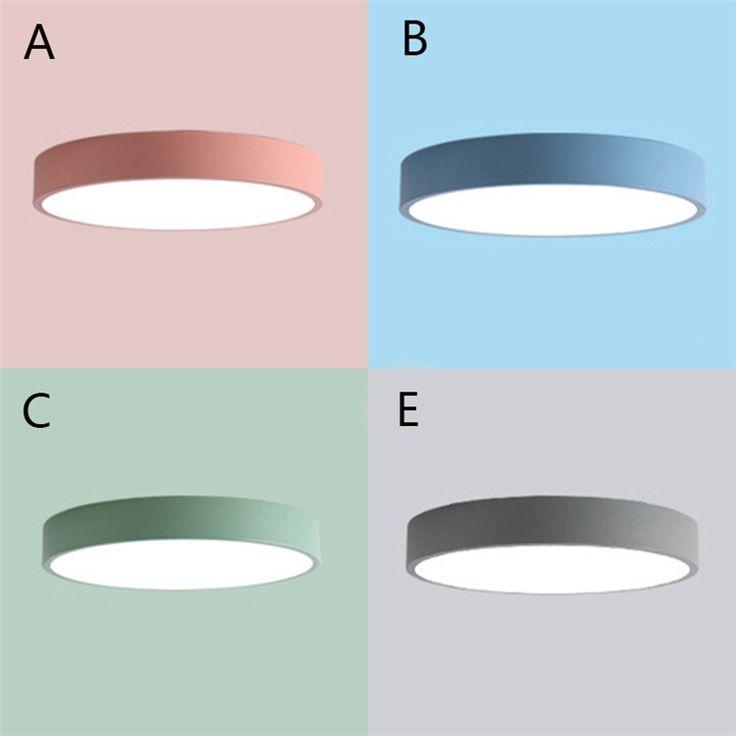 Deckenlampe Led Modern Rund in Macarons Farbe für