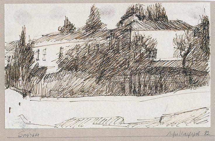 Lizzie Calligas-Agios Nikolaos-drawing-1982