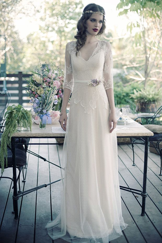 Chic and Glamour Vintage Wedding Dresses by Erez Ovadia | http://www.deerpearlflowers.com/chic-glamour-vintage-wedding-dresses-erez-ovadia/