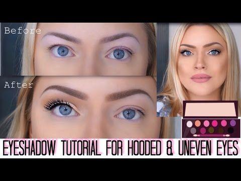 Eyeshadow technique for hooded & uneven eyes - In-depth talk-thru tutorial - YouTube
