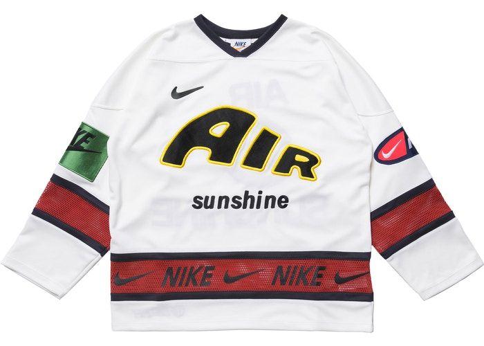 Nike X Cactus Plant Flea Market Hockey Jersey White In 2020 Hockey Jersey Streetwear Fashion Baseball Jersey Shirt