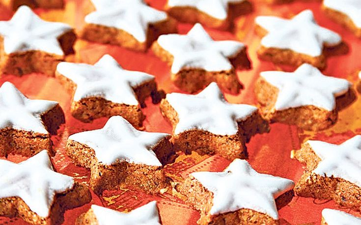 Traditional Bavarian zimtsterne, festive star-shaped biscuits perfect to give to friends at Christmas.