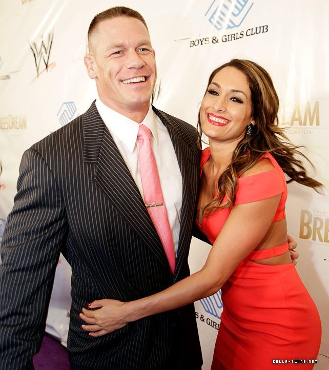Nikki Bella and John Cena WM 30 Superstars for Kids Charity Auction