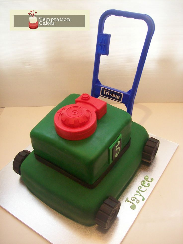 Lawn Mower Cake Auckland $349 caters for 80 coffee serves or 40 dessert serves