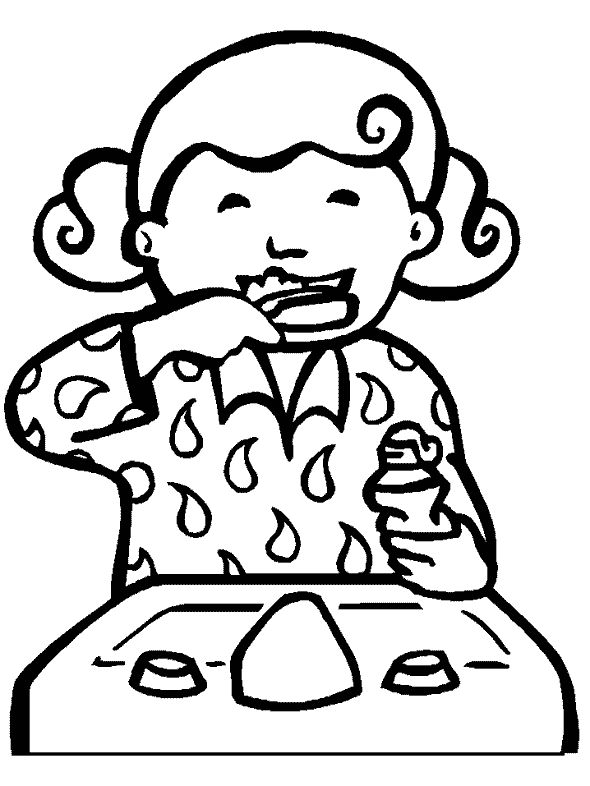 coloring pages for tongue teeth - photo#10