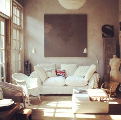 "Adriane Strampp's living room as featured on Inside Out's Instagram: http://instagram.com/insideoutmag. She's the real-life owner of Nina and Patrick's home on ""Offspring"". For our story on the TV show's interiors, see the July/August 2013 issue of Inside Out magazine, available via newsagents, Zinio, Google Play, Apple's Newsstand and Nook."