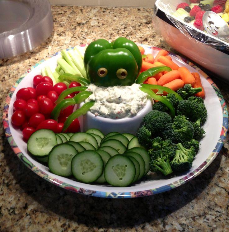octopus veggies for nautical theme baby shower