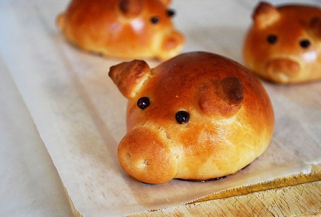 Sausage-Stuffed Piglet Buns. Perfect for an early Razorback football game!