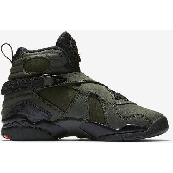 Air Jordan Retro 8 (3.5y-7y) Big Kids' Shoe. Nike.com ($140) ❤ liked on Polyvore featuring shoes