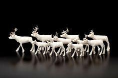 Tuttuit • Herd of Caribou by Ross Flowers, Inuit artist (LH90402)