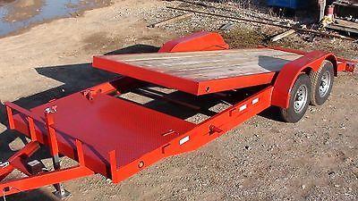 NEW 12k 18+4 Tilt Bed Splitdeck Bobcat Skidsteer Hauler Equipment Trailer in Business & Industrial, Heavy Equipment, Trailers | eBay