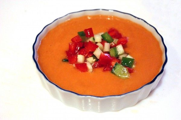 Traditional Spanish Gazpacho. | Recipes: Entrees | Pinterest