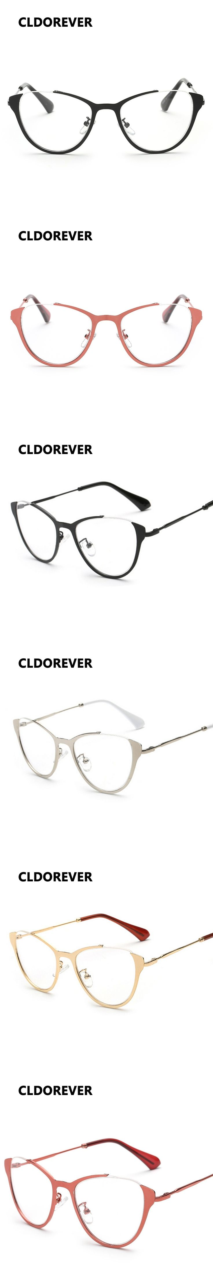 2017 New Myopia Eyeglasses Men Women Metal Cat Eye Glasses Frame Brand Designer Eyeglasses Frame Optical Computer Eyewear Oculos