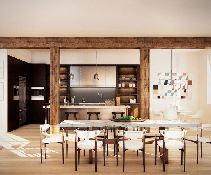 Justin Timberlake & Jessical Biel Mix Rustic With Modern In Their NYC Penthouse+#refinery29