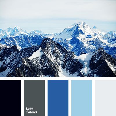 black color, blue shades, blue-color, bright blue, cold colors shades, cold gamma, color of graphite, colour of mountains, dark grey color, graphite gray, gray color, light-grey color, pale blue color, palette of cold tones.