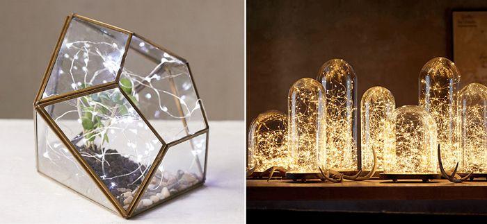 På jakt efter nya ljuskällor till hemmet? Vi har hittat 6 underbara sätt att inreda med ljusslingor.