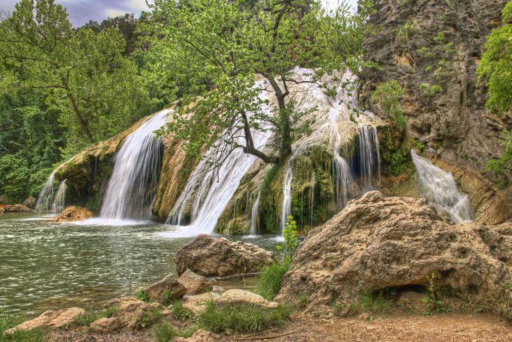 Davis, Oklahoma; Swim under a waterfall. Yes, please!
