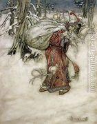 Santa Claus, illustration from Arthur Rackhams Book of Pictu...  by Arthur Rackham