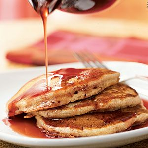 Best Banana Breads | Buttermilk-Banana Pancakes with Pomegranate Syrup | CookingLight.comBreakfast Brunches, Bananas Breads Recipe, Pancakes Recipe, Pomegranates Syrup, Healthy Breakfast, Cooking Lights, Buttermilkbanana Pancakes, Brunches Recipe, Buttermilk Bananas Pancakes