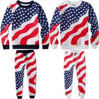 Высокое качество унисекс мужские женщины американские спортивные штаны флаг балахон спорт кроссовки хлопка флаг сша бегунов брюки балахон наряд AY381