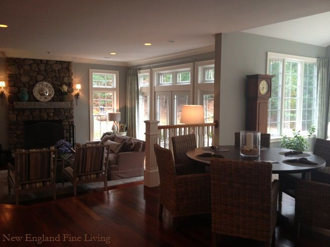 Living Room And Kitchen Dining Area In A Country New England Style Home  With A Touch Part 79