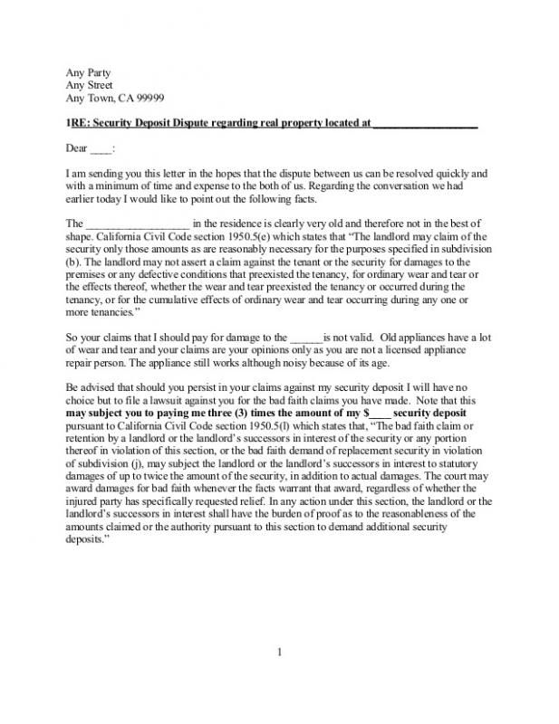 Sample Letter To Tenant For Damages | template | Real estate
