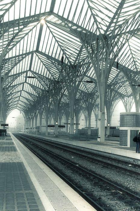 Estação do Oriente (via Jsome1), arch. ing. Santiago Calatrava