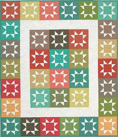 103 best star pattern quilts images on Pinterest | Blue quilts ... : easy star quilt - Adamdwight.com