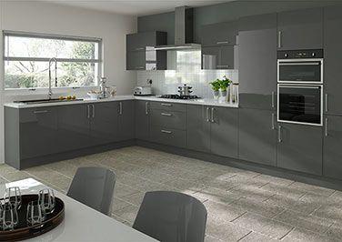 grey gloss kitchen - Google Search