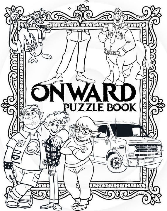 Onward 9 Page Printable Puzzle Quiz Colouring Book Ideal Etsy Coloring Books Coloring Pages Color Puzzle
