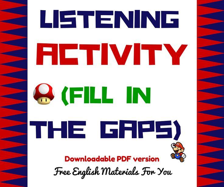 Listening Activity- English quiz - Free English Materials For You #listening #English #ESL #Fillinthegaps