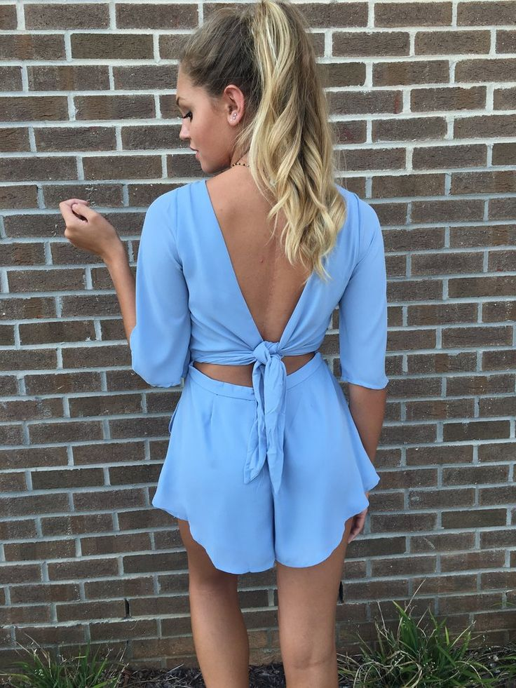 Ready To Roll Romper #bow-back-romper #olivaceous #swoon-boutique