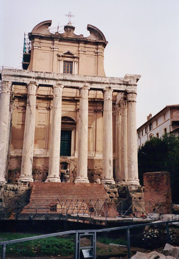 "clioancientart: "" The Temple of Antoninus and Faustina, late 2nd Century AD, converted in the Baroque era to the Church of San Lorenzo, facing onto the Forum. Rome. Photo Credit: Clio Ancient Art and..."