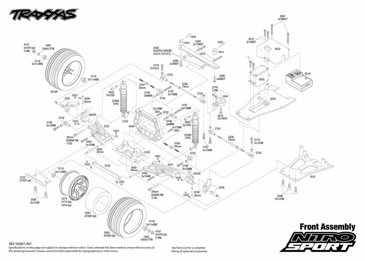 Nitro Sport (45104-1) Front Assembly Exploded View