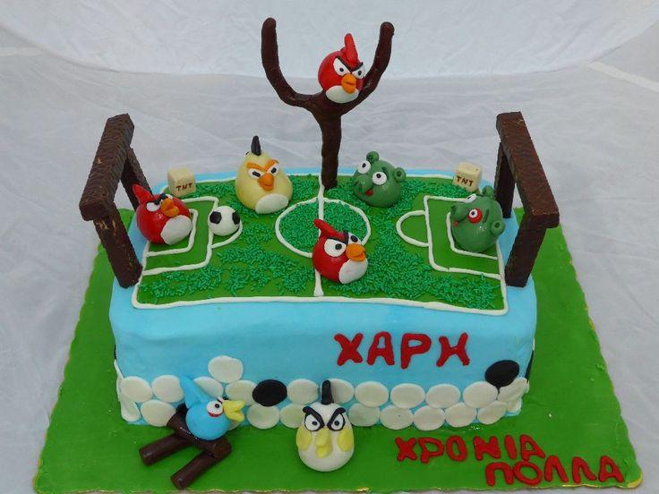 Angry Birds play football! Cake