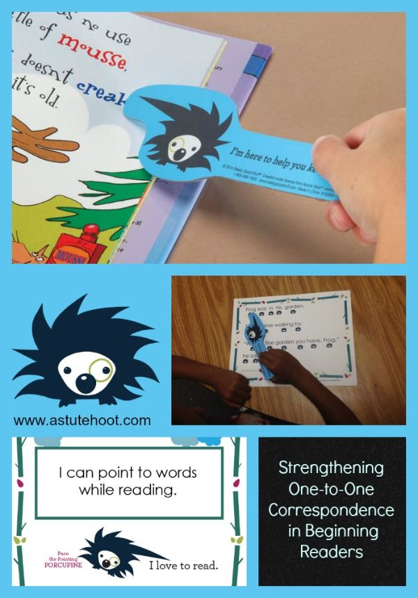 Pointing, or one-to-one correspondence, helps beginning readers make text-to-word connections. This also helps students with directionality, visual tracking and keeping their place while reading.