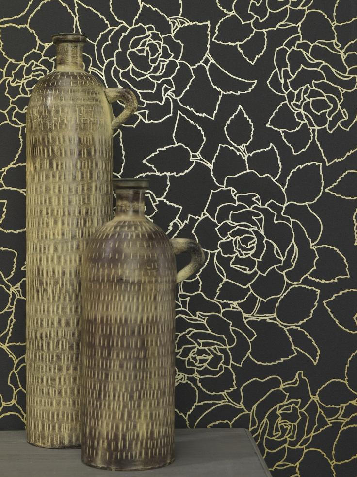 17 beste idee n over goud behang op pinterest gouden patroon gouden stippen en zomer behangpapier - Behang zwart en goud ...