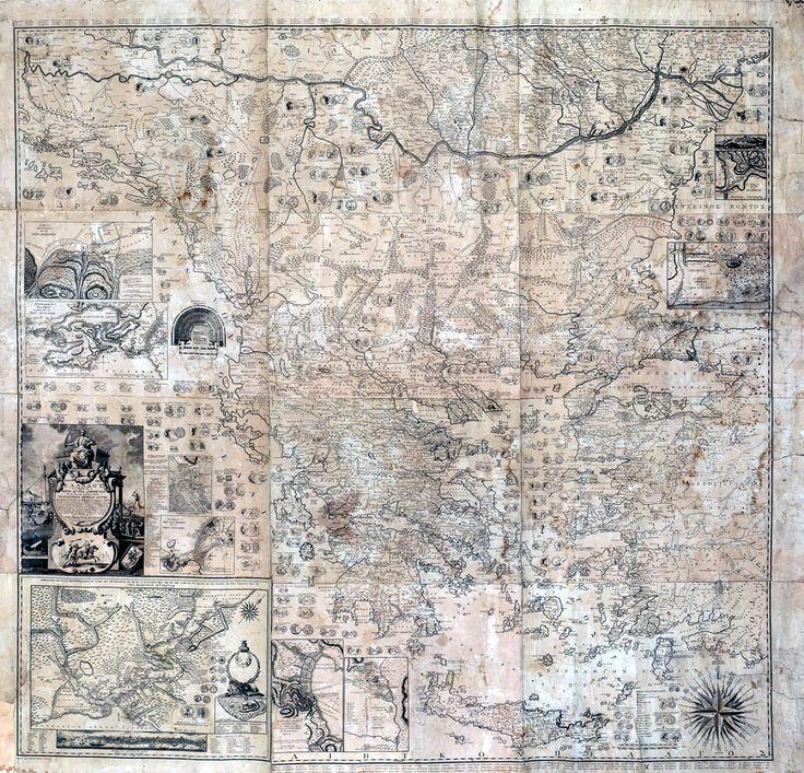 Χάρτα της Ελλάδος, εν περιέχονται αι νήσοι αυτης και μέρος των εις την Ευρώπην και Μικράν, 1797 - ΡΗΓΑΣ Βελεστινλής