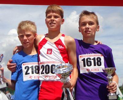III miejsce Krzysztofa Noworyty /bieg na 1000 m/ w XX Ogólnopolskim Finale Czwartków Lekkoatletycznych.