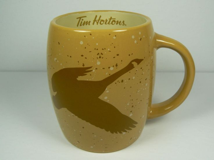 NEW 2016 TIM HORTONS #016 TAN AND BROWN CANADA GOOSE CERAMIC MUG #TimHortons