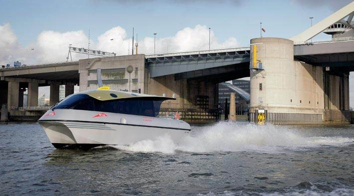 The Damen Water Taxi offers luxurious, fast and comfortable transport for small groups of passengers. http://www.damen.com/en/markets/water-taxi
