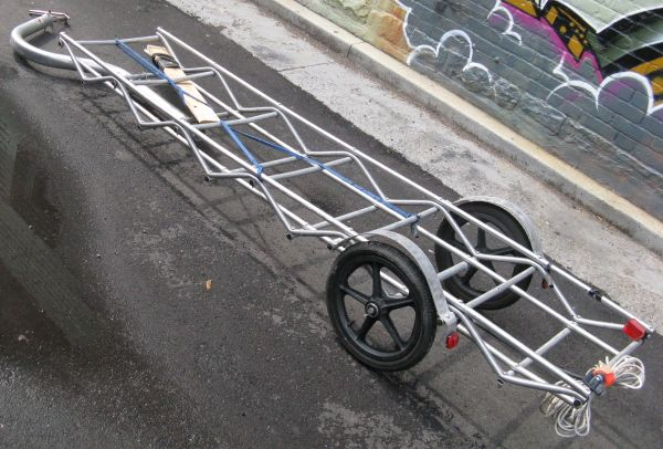 Long Bed Bicycle Trailer Diy Pinterest