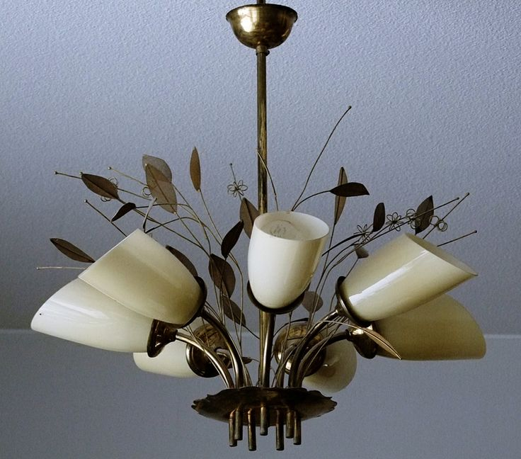 Lighting fixture design by Paavo Tynell and made by Taito Oy Finland.