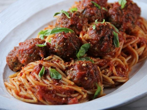 Spaghetti and Turkey Meatballs: If you want to sneak some vegetables into your kids' meals, try Tia Mowry's trick: chopped spinach. Another unique addition? Rolled oats are pulsed in a food processor for a quick binder in these turkey meatballs.