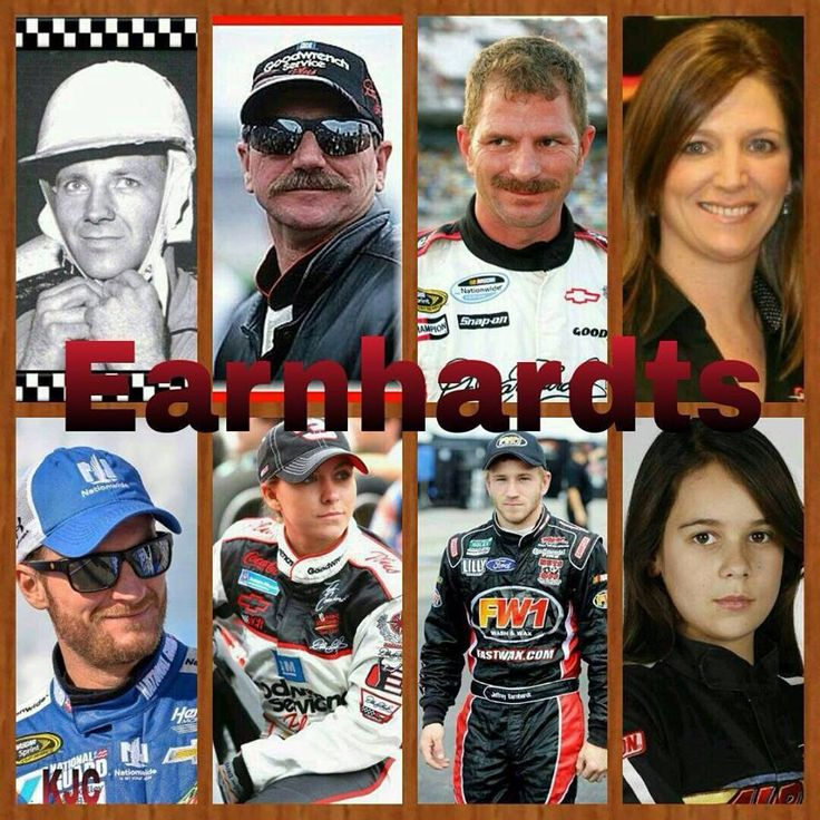 The Earnhardt Family Ralph Dale Kerry Kelley Dale Jr Taylor Jeffery  Karsen Elledge